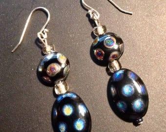 Black Spotted Earrings