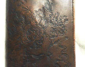 floral leather book cover