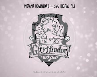 SVG Digital File - Harry Potter - Gryffindor House Symbol