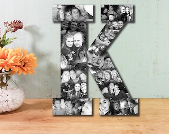 Custom Photo Collage, Letter Photo Collage, Personal Collage, Photo Collage, Personal Photos, Customized Photo Letters, Custom Photo Display