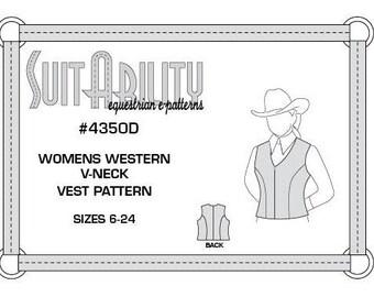 PDF Womens' Western V-Neck Vest Pattern
