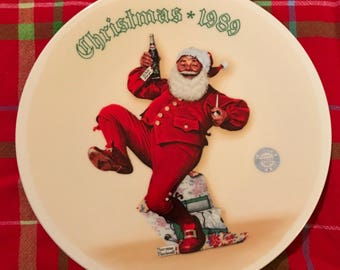 Norman Rockwell 1989 Christmas Collectors Plate