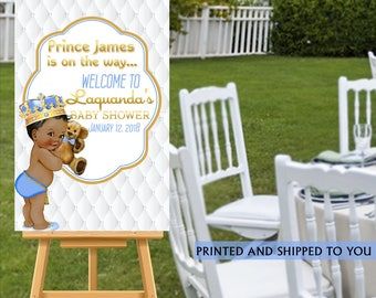 Baby Shower Welcome Sign, Welcome to the Party Sign, Little Prince Welcome Sign, Personalized Welcome Sign, Royal Prince Foam Board Sign