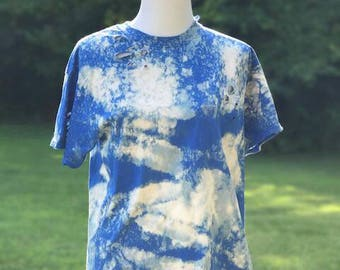 In the Clouds distressed tee