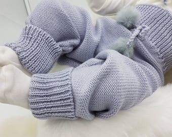 Babies/ knitted wool Pants/leggings/toddlers/wool leggings/gray/warm/thick/chunky/trousers