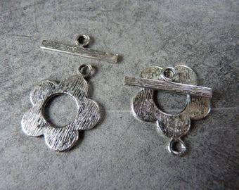 Antique Flower toggle clasp