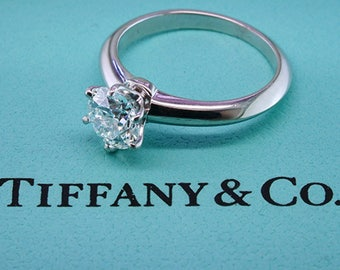 Tiffany & Co Engagement Ring Diamond Solitaire Platinum GIA Certified 1.10ct