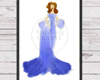 Something Blue (Illustrated Print)
