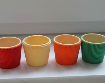 Vintage Egg Cups (set 4) 1950's