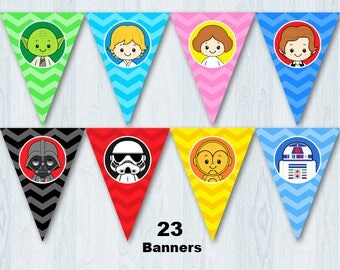 Star Wars Birthday Party Banner, Star Wars Birthday Banner, Star Wars Banner, Star Wars Bunting