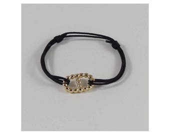 Navy ball link cord. Gold plated