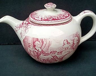 Homer Laughlin HISTORICAL AMERICAN tea pot with the Washington family on it