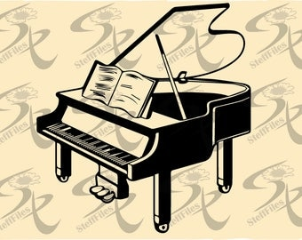 0759_ PIANO, Vector, Musical instruments,SVG,DXF,ai, png, eps, jpg,Signature,Download files, Digital, graphical