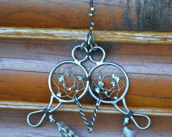 Antique horse bit dreamcatcher