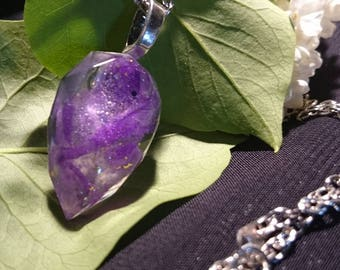Gift ORIGINAL sequined Purple Fairy NECKLACE