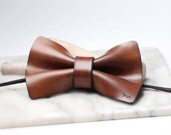 Christmas Gift for Him, Gift for Dad, Leather Bowtie, Bow Tie, Gift for Husband, Gifts for Him, Gifts for Men, Boyfriend Gift, Mens Gift