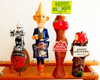 Angry Orchard-Seedy Blonde-Dead Guy-Cone Head-Red Hook Beer Tap Handle-Rogue Tapper-Stevens Point Brewery-Beer Tap Displays-Rare Beer Tapper