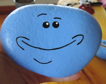 Mr. Meeseeks Painted Rock
