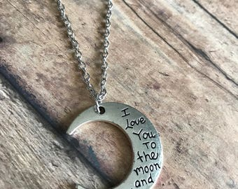 Love to the moon necklace