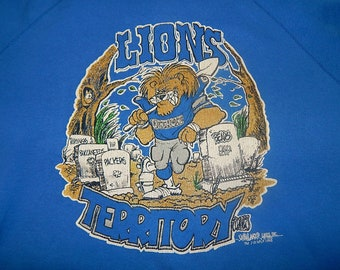Detroit Lions 90s Grave Digger Sweatshirt - vintage nfl