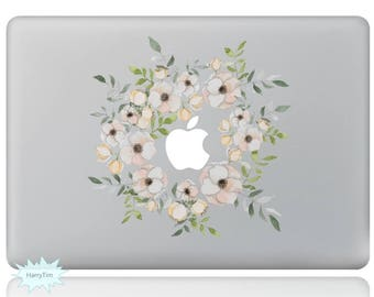 Flowers Macbook Decal Mac Stickers Macbook Decals Macbook Stickers Apple Decal Mac Decal Stickers Laptop Decal