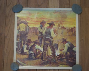 Guy Deel Del Monte Sandwich Posters // Guy Deel 1981 lithographs // Southwestern // Cowboys // Posters