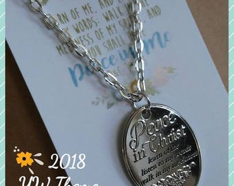 Young Women theme 2018, theme charm necklace, LDS jewelry
