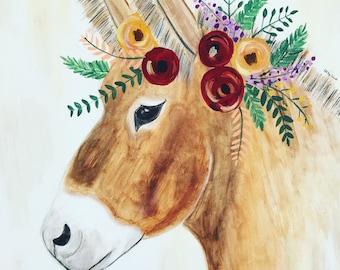 Boho Donkey art