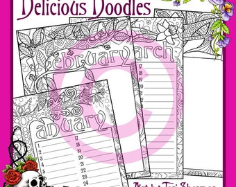 Printable PDF Journal, Planner Pages, A6 Size