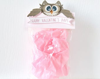 Owl Valentine's Toppers: treat bag, goodie bags, valentine bags, class bags, pass out, sweet sayings, puns, school- LRD020V