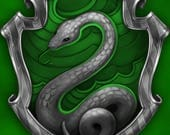 Slytherin Bi-fold with 6 ring spine