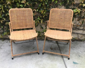 Folding Chairs -- Folding Chair Set -- Bamboo Folding Chairs -- Outdoor Seating -- Folding Chairs -- Patio Seating -- Set of Chairs