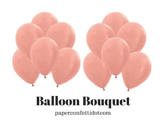 "12 CT 11"" Rose Gold Latex Balloons 