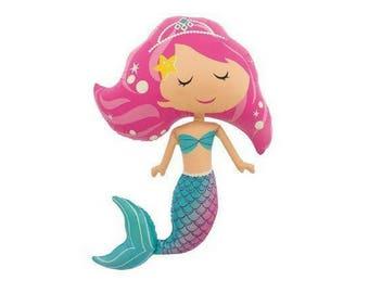 Mermaid Balloon | Princess Party Decorations | Little Mermaid Party | Little Mermaid Balloon | Under the Sea |  Ariel Party | Princess Party