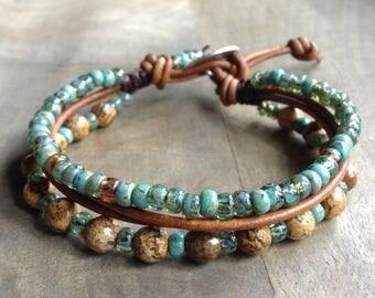 Picture jasper bohemian bracelet hippie bracelet boho chic bracelet surf bracelet beaded womens jewelry western jewelry beach bracelet