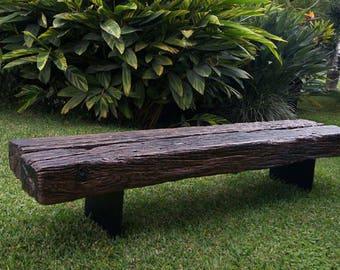 Railway Wood Bench / Outdoor Furniture / Home Decor / Minimalist / Unique  Furniture/ Rustic