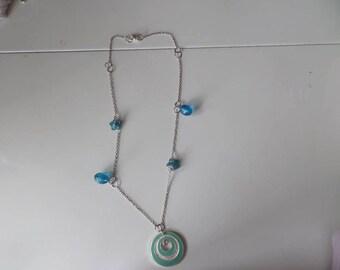 """Caribbean"" blue necklace"
