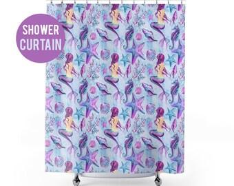 Shower Curtain Mermaid Pattern Shower Curtain