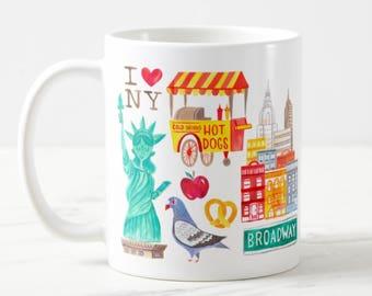 Coffee Mug New York City Coffee Cup - NYC - New York Fashion - New York Mug