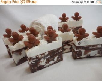 ON SALE Gingerbread Man SOAP Loaf - Gingerbread Soap - Christmas Soap - Ginger Soap - Cinnamon Soap - Bulk Holiday Soap - Stocking Stuffer G