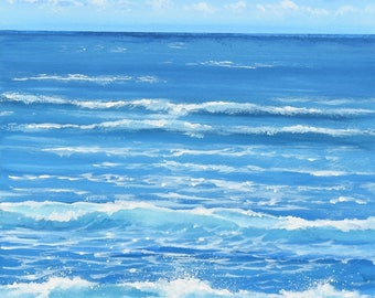 North Coast Surf - Cornish Seascape - Original Acrylic Painting