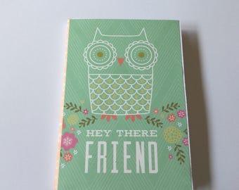 Junk journal, flip book, owl stationery, smash book, diy journal, snail mail, brag book, pocket book