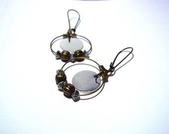 Retro Bohemian earrings silver bronze