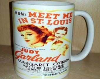 Retro Nostalgic Meet Me in St. Louis Theatrical Cinema Poster Ceramic Coffee Mug Cup