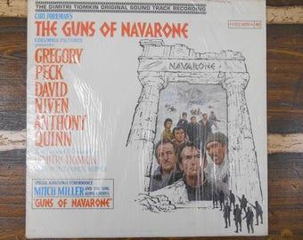 Carl Foreman's The Guns of Navarone Mitch Miller Dimitri Tiomkin Vintage Vinyl Record LP 1961