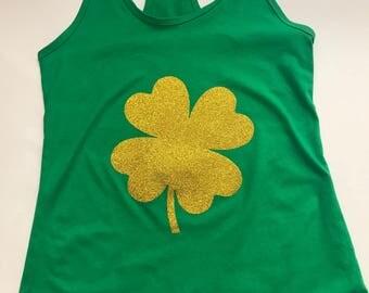 St Patrick's Day Shirt Women, St Patty's Day Tank Top Women Sharmocks, St Patricks