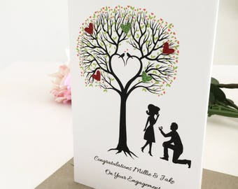 Handmade Engagement Card, Personalised Gift, Newly Engaged Ideas, Congratulations, Getting Married Card, Unique Engagement Gift for couples