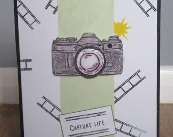 Handmade photography camera card