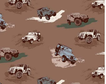 Jeep Fabric / J is For Jeep Fabric By Riley Blake. 100% cotton, C6470 / Yardage and Fat Quarters