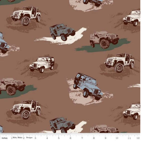 Jeep Fabric J Is For Jeep Fabric By Riley Blake 100